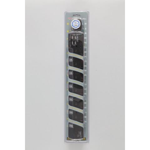 6位合格排插 + 4個USB時間充電器 (最大輸出: 3.2A max.)
